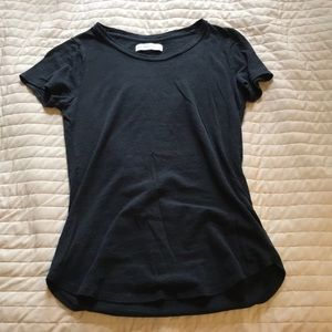 Plain Black Fitted Tee Shirt: Abercrombie & Fitch